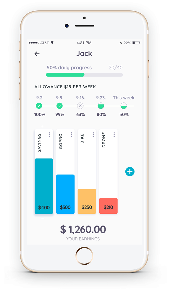 Homey app lets kids save for things they really want and use their allowance in financially-savvy ways