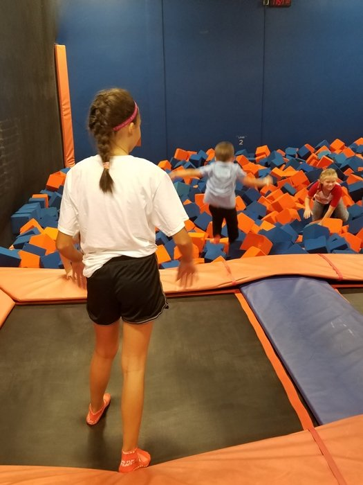 winter activities for kids - trampoline park