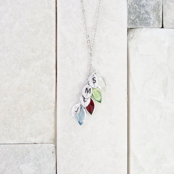 Mothers day Birthstone necklace