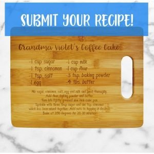 mothers day gift idea recipe cutting board