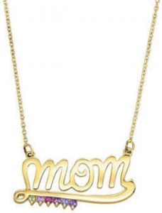 personalized mom necklace for mothers day
