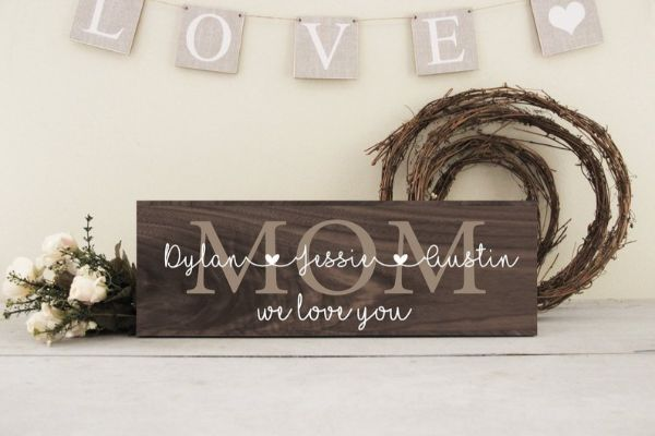 Mothers day gift wall sign