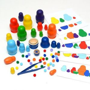 Educational toys - color sorting dolls