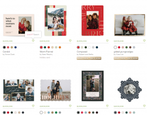 minted custom christmas cards