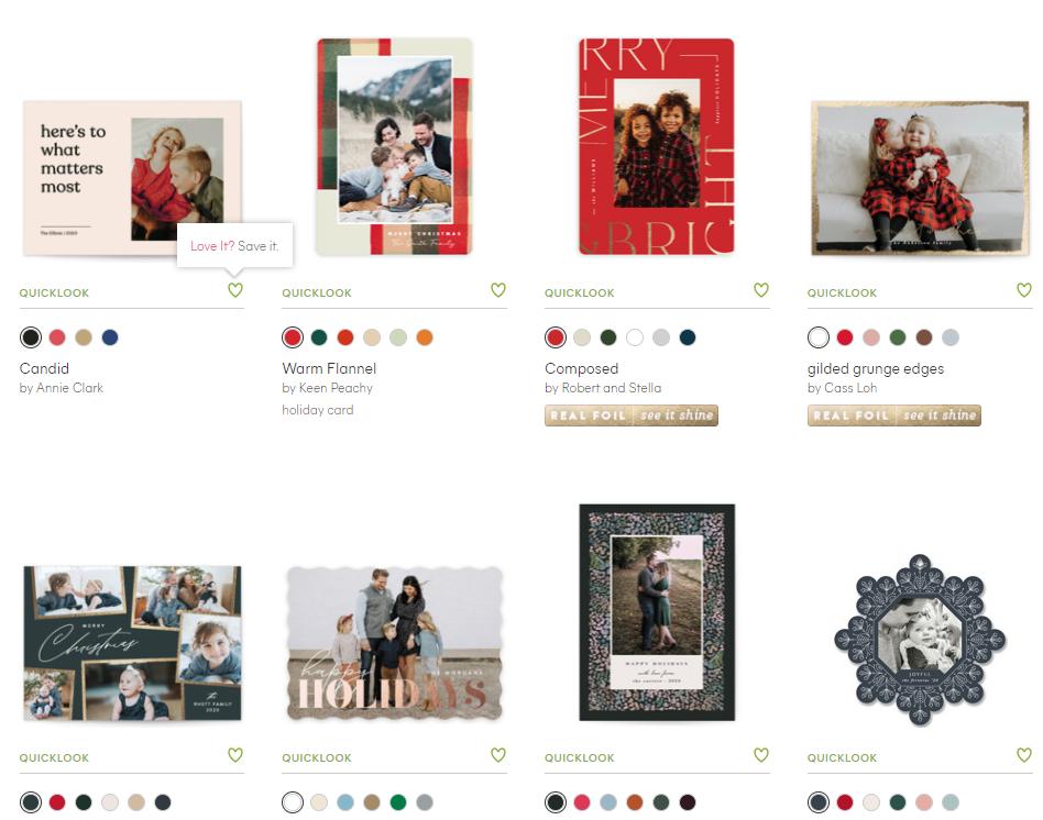 minted custom christmas cards