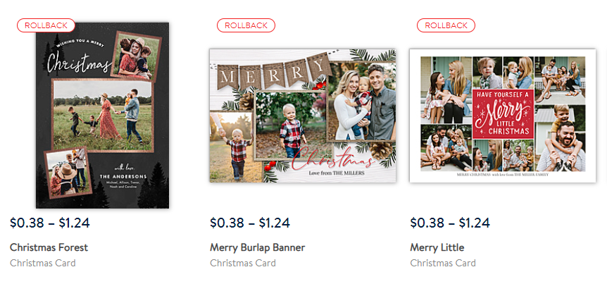 walmart personalized holiday cards