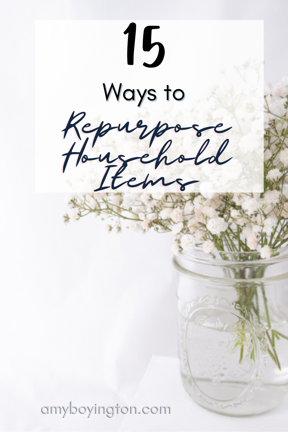 How to repurpose everyday household items, like books, jars, wine bottles, and dog crates.
